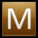 128x128px size png icon of Letter M gold