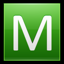 128x128px size png icon of Letter M lg