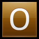 128x128px size png icon of Letter O gold