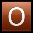 128x128px size png icon of Letter O orange