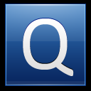 128x128px size png icon of Letter Q blue