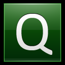 128x128px size png icon of Letter Q dg