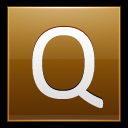 128x128px size png icon of Letter Q gold