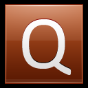128x128px size png icon of Letter Q orange