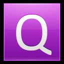 128x128px size png icon of Letter Q pink