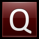 128x128px size png icon of Letter Q red