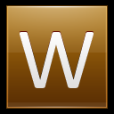 128x128px size png icon of Letter W gold
