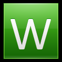128x128px size png icon of Letter W lg
