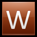128x128px size png icon of Letter W orange