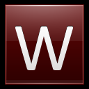 128x128px size png icon of Letter W red