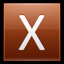 128x128px size png icon of Letter X orange