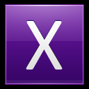 128x128px size png icon of Letter X violet