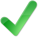 128x128px size png icon of Check