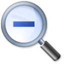 128x128px size png icon of Zoom Out