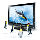 128x128px size png icon of 3D Penguins