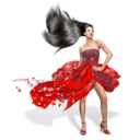 128x128px size png icon of Girls Red Dress