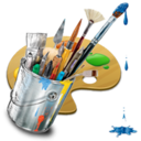 128x128px size png icon of Graphics Painting