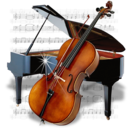 128x128px size png icon of Music Piano Chello