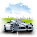 128x128px size png icon of Travel Alpha Romeo