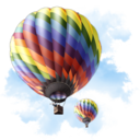 128x128px size png icon of Travel Baloon