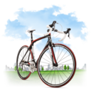 128x128px size png icon of Travel Bicycle