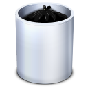 128x128px size png icon of Dock Trash Full