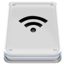 128x128px size png icon of Hard Disk Wifi