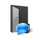 128x128px size png icon of Folder Chatlogs