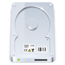 128x128px size png icon of Hard Disk Default