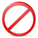 128x128px size png icon of Restricted