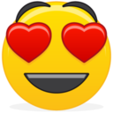 128x128px size png icon of Emoticon inlove