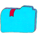 128x128px size png icon of Osd folder b bookmarks 2
