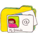 128x128px size png icon of Osd folder y contacts