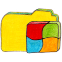 128x128px size png icon of Osd folder y windows
