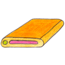 128x128px size png icon of Osd harddisk 1