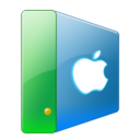 128x128px size png icon of Hdd apple