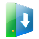 128x128px size png icon of Hdd downloads