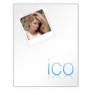 128x128px size png icon of Ico File