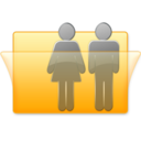 128x128px size png icon of Users Folder