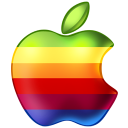 128x128px size png icon of Apple Rainbow
