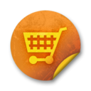 Orange sticker badges 128 Icon