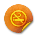 Orange sticker badges 222 Icon