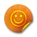 Orange sticker badges 274 Icon