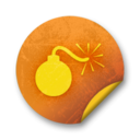 Orange sticker badges 281 Icon