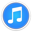 128x128px size png icon of iTunes BLUE