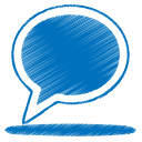 128x128px size png icon of blue balloon