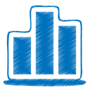 128x128px size png icon of blue chart