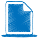 128x128px size png icon of blue document