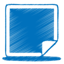 128x128px size png icon of blue picture