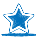 128x128px size png icon of blue star
